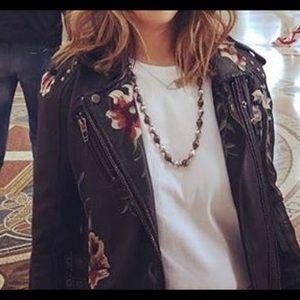 Blank NYC Vegan Leather Floral Jacket